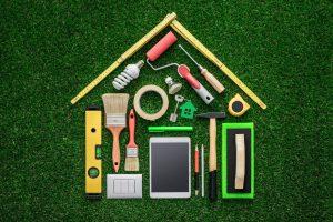outils en forme de maison